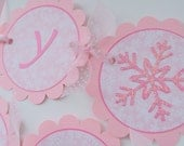 Snowflake 1st Birthday Banner - Snowflake, Winter One-derland - Christmas Birthday Banner
