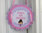 Gymnastics Birthday Party Sign - Girls Birthday Party Decorations Gymnastics Tumbling - Birthday Party Door Sign - Party Supplies