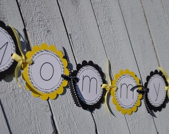 Bee Baby Shower Banner - Bumble Bee Baby Shower Decorations - Mommy To Bee