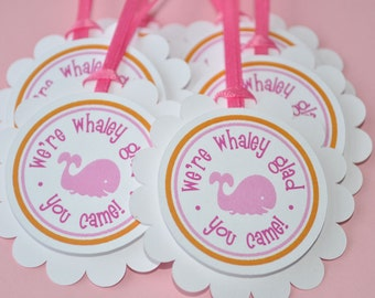 whale baby shower favor tags itu0027s a girl baby shower favors nautical baby shower