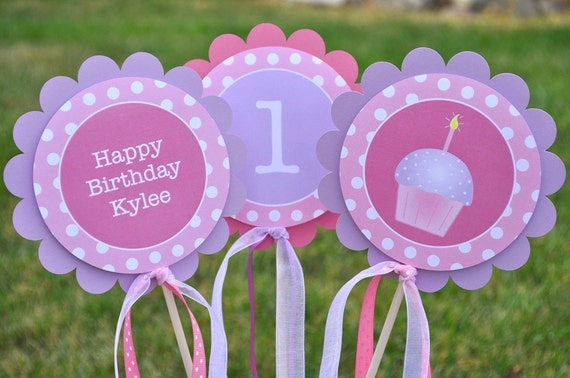Girls Birthday Party Decorations Table Centerpiece Sticks - Birthday party table centerpiece ideas