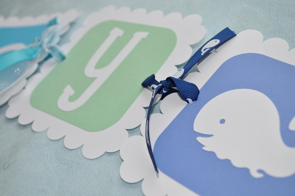 whale baby shower banner whale theme it 39 s a boy boy