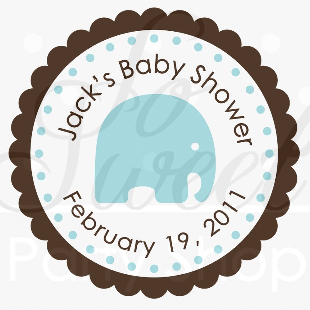 Baby Shower Stickers For Favors: 24 Boys Baby Shower Favor Sticker Labels It's A Boy