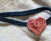 Valentine Crochet Knit Heart Headband Yarn for Adults Teens  READY TO SHIP