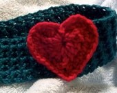 Valentine Knit Heart Headband Crocheted fits Adults and Teens READY TO SHIP