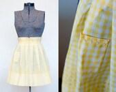 Vintage Apron in Sunshine Yellow Gingham