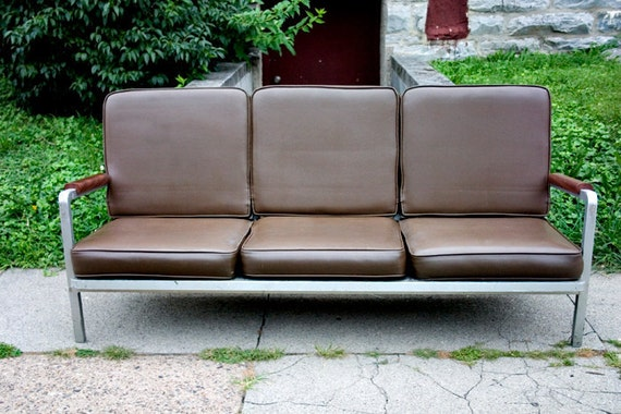 RESERVED Mid Century Sofa Couch Modern Danish Brown