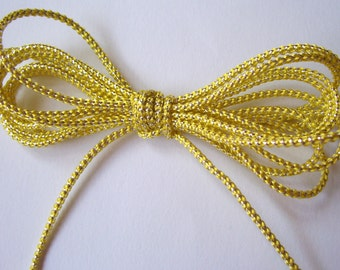 Pastel Yellow and Silver Cord