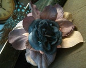 Purple and Blue Victorian Floral Fascinator