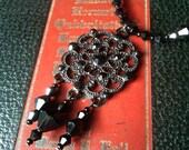 RESERVED FOR SASHA - Dark Bohemian - Jet Black Crystal Necklace