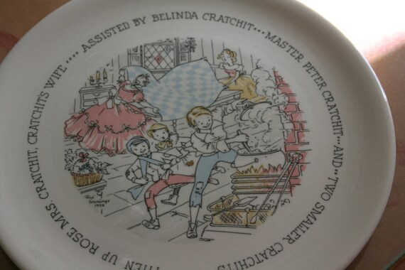 1959 Buffalo China Company Dickens Annual Employee Christmas Plate