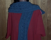 Blue cable Scarf