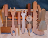 Wood Tool Set and Box