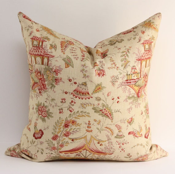 SALE - Chinoiserie Pillow Cover / 20x20