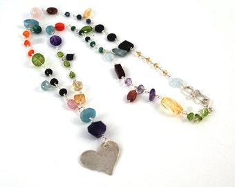 Full of Love semi precious stone necklace