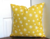 18 inch Pillow Cover Yellow and White Floral Dandelions