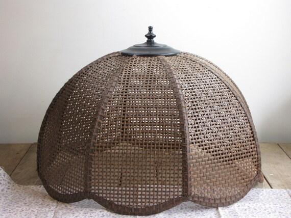 vintage natural woven swag lamp shade