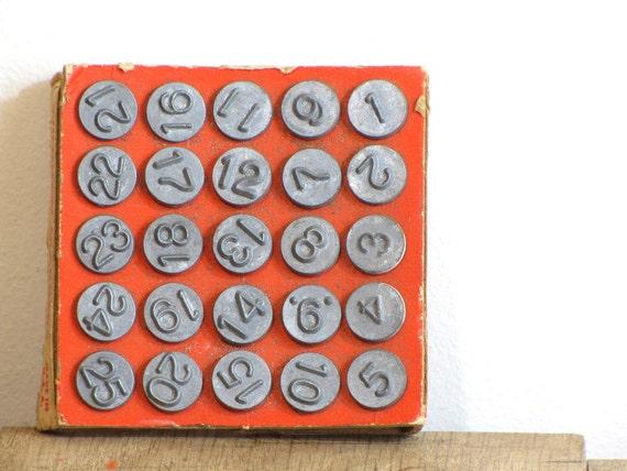 vintage number tacks