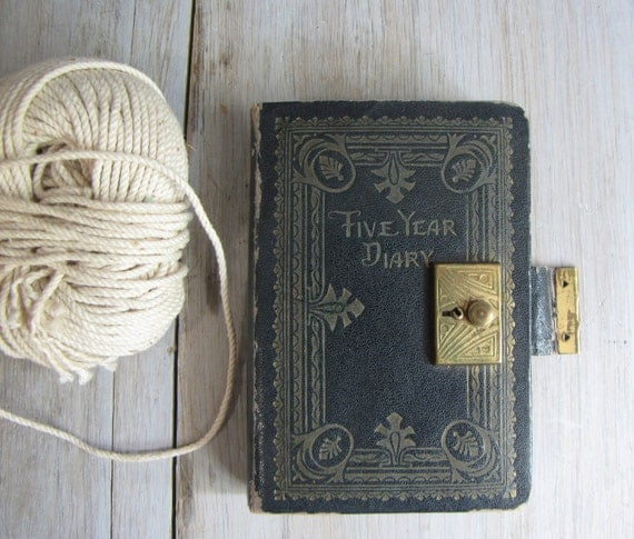 vintage five year diary - 1930's