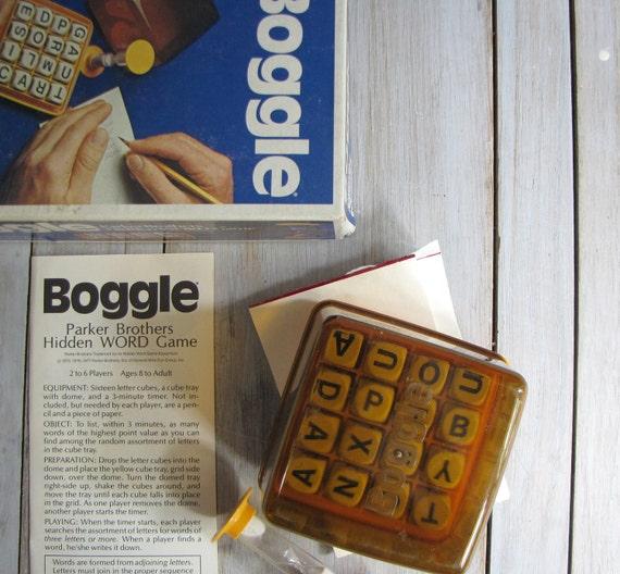 vintage boggle game