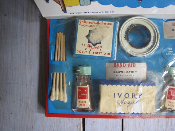 vintage 1950s my merry dolly's first aid