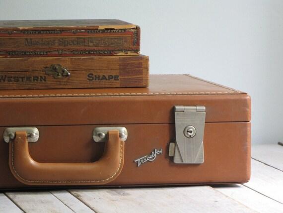 vintage travel joy suitcase