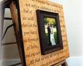 Personalized Wedding Picture Frame TO OUR PARENTS Mother of the Bride, Father of the Bride Gift, Parent Thank you Gift 16X16