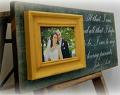 Wedding Gifts For Parents Personalized Picture Frame Custom 8x20-All That We Are- Anniversary Love Father of Mother of Song Vows Thank You