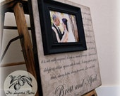Personalized Picture Frame 16x16 LOVE IS PATIENT, Love Is Kind-- Wedding Love Anniversary Gift Quote Song Verse
