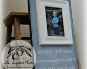 BABY PICTURE FRAME Personalized Custom Picture Frame 8x20-No One Else- Dedication Baptism Christening First Birthday Gift Godparents