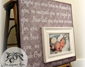 Baby Picture Frame, Baby Frame, Personalized Baby Frame, Baby Wall Decor, Baptism, Christening, First Birthday,16x16 BEFORE YOU WERE Born