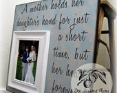 Mother of the Bride, Mother of the Bride Gift, Mother of the Bride Frame, Wedding Thank You, 16x16 The Sugared Plums