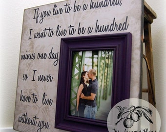 Personalized Wedding Picture Frame 16x16 If You Live To Be A Hundred Anniversary Love Winnie The Pooh
