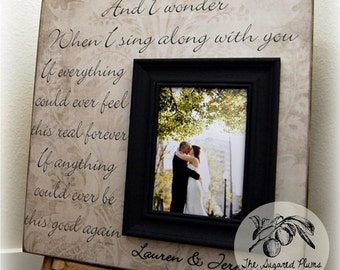 Wedding Frame 16x16 Personalized Custom And I Wonder Love Anniversary Father Mother of The Bride The Sugared Plums