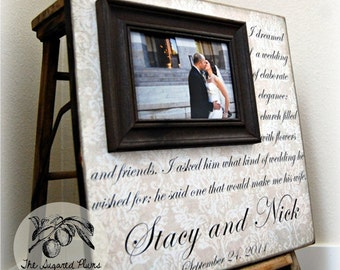 Picture Frame, Anniversary Gift, I DREAMED OF A WEDDING, 16x16 The Sugared Plums Frames