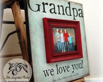 Custom Grandpa Picture Frame Fathers Day Dad Grandfather Grandchild PaPa Grandparents Appreciation 16x16 Frame