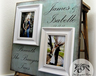Picture Frame Wedding Gift Custom 16x16 BENEATH The BANYAN TREES Anniversary Love Father Mother Parents Shower Quote Thank You Double