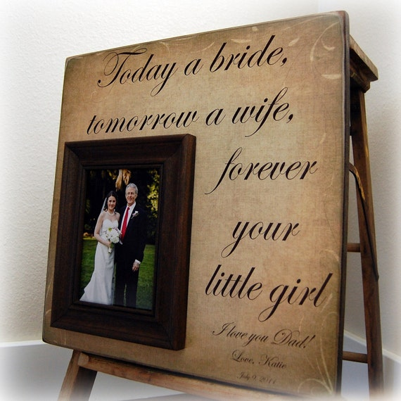 Personalized Wedding Picture Frame TODAY A BRIDE Mother of the Bride, Father of the Bride Gift, Parent Thank you Gift