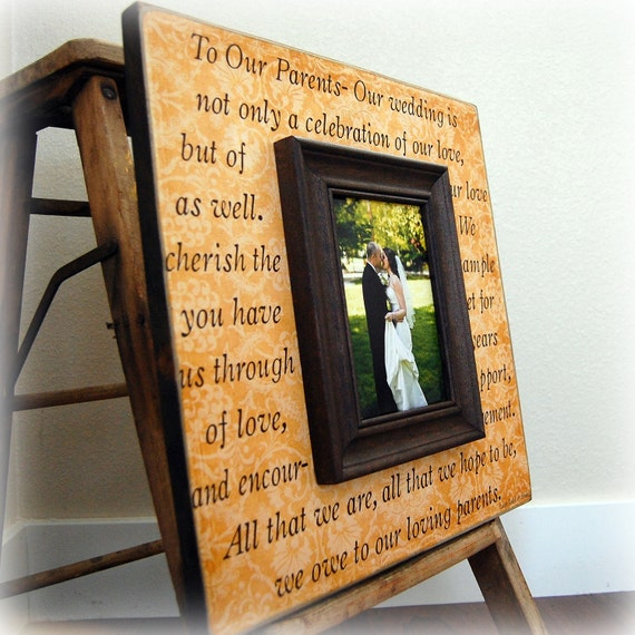 Personalized Wedding Picture Frame TO OUR PARENTS Mother of the Bride ...