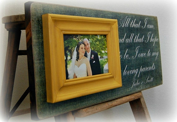 Personalized Wedding Gifts For Parents: Wedding Gifts For Parents Personalized Picture Frame Custom