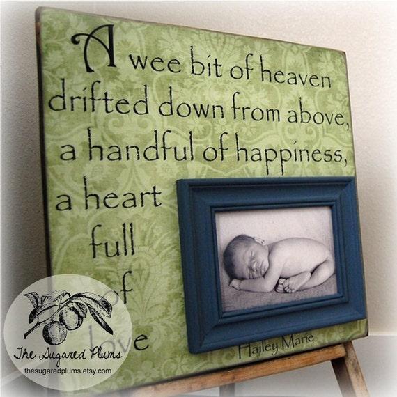 Baby Gift, Personalized Baby Gift, Baby Gift Baptism, Personalized Baby Gift, Unique Baby Gift, Baby Gift Ideas, 16x16 A Wee Bit of Heaven
