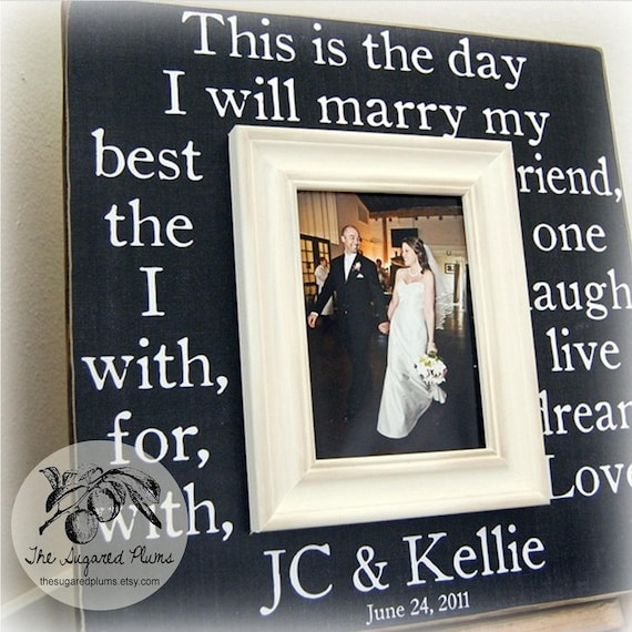 A Wedding Gift Movie : Wedding Sign, Personalized Wedding Gift, Picture Frame 16x16 This Is ...