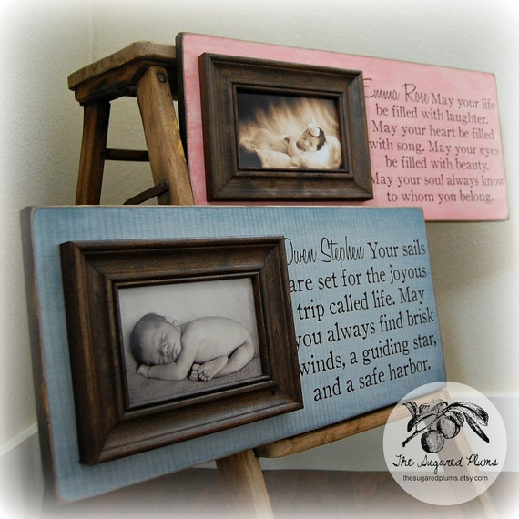 Baby Gift Baskets For Triplets : Twins gift personalized picture frame custom baby shower