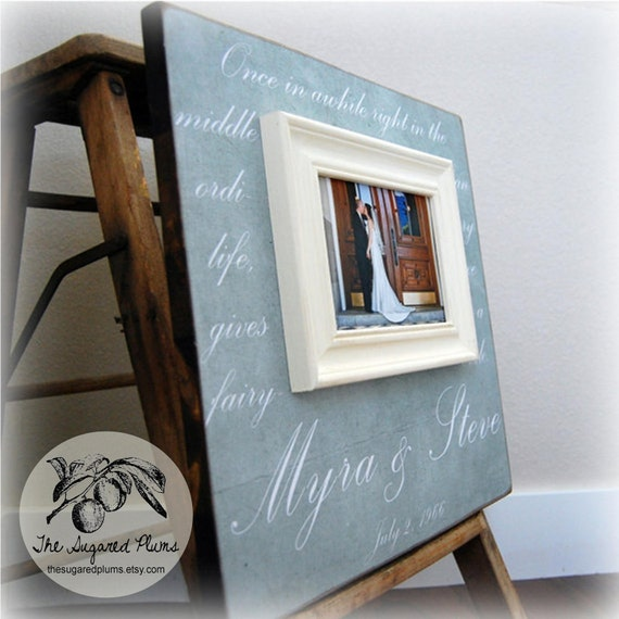Picture Frame, Wedding Frame, Personalized Picture Frame, Thank You Frame, The Sugared Plums,16x16
