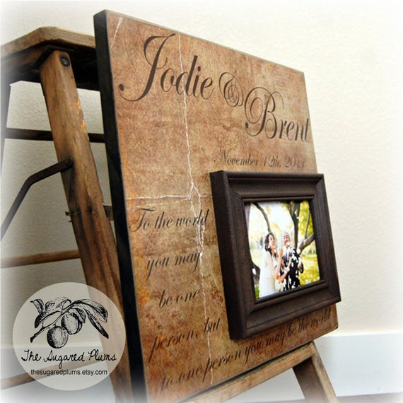 Personalized Wedding Picture Frames For Parents : Wedding Frame Personalized Custom Picture Frame 16x16- TO THE WORLD ...