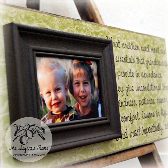 Grandma Gift, Grandparents Gift, Grandpa Gift, Grandparents Frame 8x20 The Sugared Plums