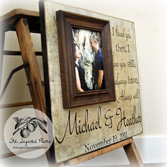 Personalised Wedding Gift Portrait : Personalized Wedding Frame Wedding Picture by thesugaredplums