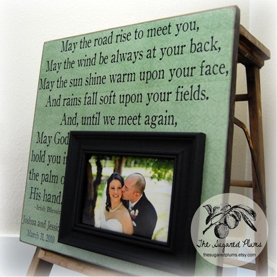 Wedding Gifts For Parents Ireland : ... 16x16 -May The Road Rise To Meet You-Wedding Gift Love Anniversary