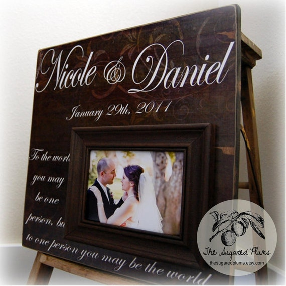 Wedding Gifts Picture Frames : Anniversary Gift Picture Frame Personalized Wedding Gift Custom 16x16 ...