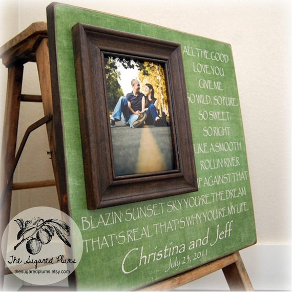 Wedding Gift Personalized Picture Frame : Personalized Picture Frame Wedding Gift Custom 16x16 YOUre MY LIFE ...